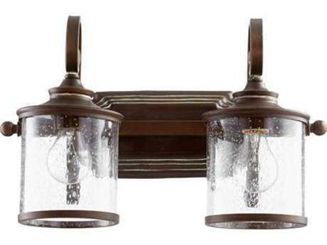 Quorum International San Miguel Vintage Copper Two-Light Vanity Light QM5073239