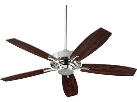Quorum International Soho Polished Nickel 52'' Wide Indoor Ceiling Fan with Dark Teak Blades QM6452562