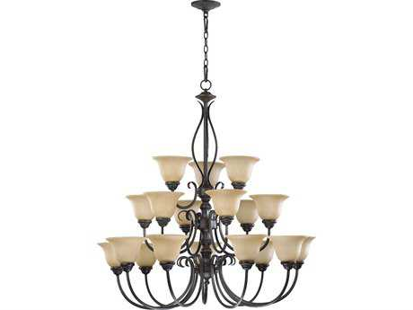Quorum International Spencer Toasted Sienna 18-Light 38'' Wide Chandelier QM60101844