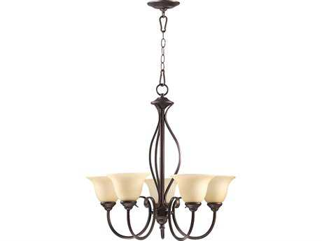 Quorum International Spencer Oiled Bronze Five-Light 24'' Wide Chandelier QM6010586
