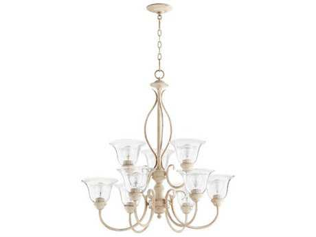 Quorum International Spencer Persian White Nine-Light 29'' Wide Chandelier QM60109170
