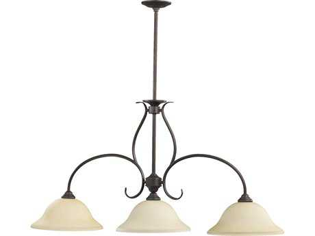 Quorum International Spencer Toasted Sienna Three-Lights Island Light QM6510344