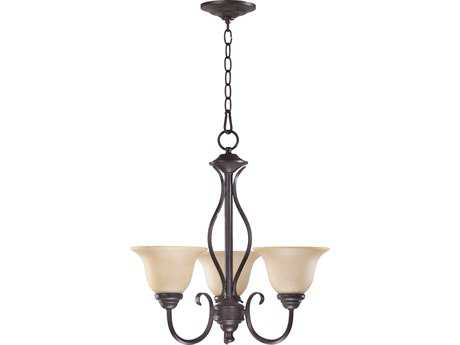 Quorum International Spencer Toasted Sienna Three-Light 20'' Wide s Mini Chandelier QM6010344