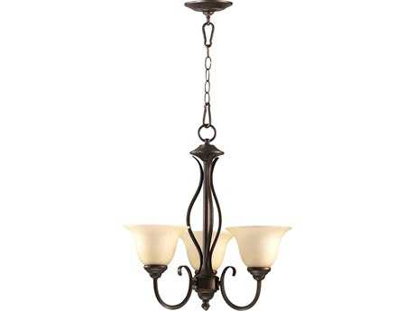 Quorum International Spencer Oiled Bronze Three-Light 20'' Wide s Mini Chandelier QM6010386