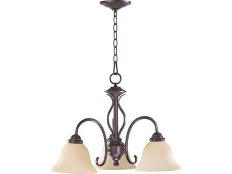 Quorum International Spencer Toasted Sienna Three-Light 21'' Wide s Mini Chandelier QM6410344