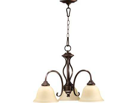 Quorum International Spencer Oiled Bronze Three-Light 21'' Wide s Mini Chandelier QM6410386