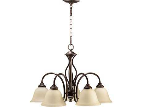 Quorum International Spencer Oiled Bronze Five-Light 24'' Wide s Mini Chandelier QM6410586