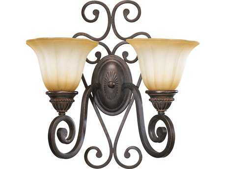 Quorum International Summerset Toasted Sienna Two-Lights Wall Sconce QM5526244
