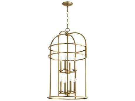 Quorum International Toque Entry Aged Brass Eight-Light 18'' Wide Chandelier QM6733880