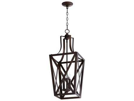 Quorum International Trap Entry Oiled Bronze Three-Light 12'' Wide Pendant Light QM6736386