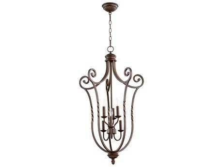 Quorum International Tribeca II Oiled Bronze Six-Light 21'' Wide Pendant Light QM6878686