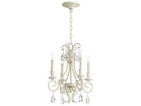 Quorum International Universal Persian White Four-Light 16'' Wide Mini Chandelier QM6014470