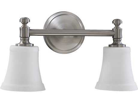 Quorum International Satin Nickel Two-Lights Vanity Light QM5122265