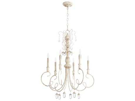 Quorum International Venice Persian White Six-Light 28'' Wide Chandelier QM6044670