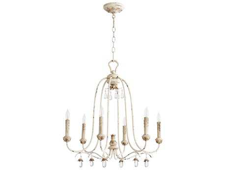 Quorum International Venice Persian White Six-Light 24.5'' Wide Chandelier QM6144670