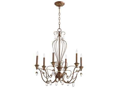 Quorum International Venice Vintage Copper Six-Light 26'' Wide Chandelier QM6244639