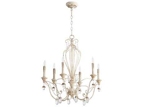 Quorum International Venice Persian White Six-Light 26'' Wide Chandelier QM6244670
