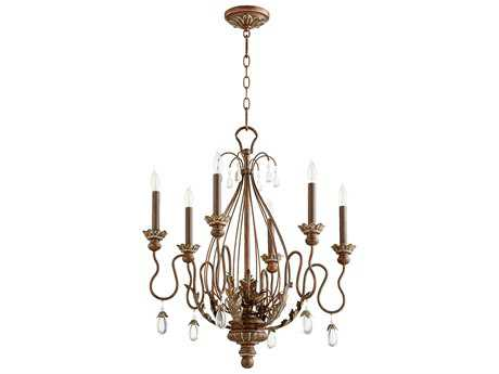 Quorum International Venice Vintage Copper Six-Light 25'' Wide Chandelier QM6344639