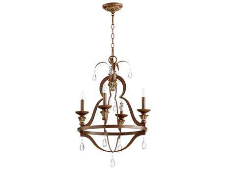 Quorum International Venice Vintage Copper Four-Light 19.5'' Wide Chandelier QM644439
