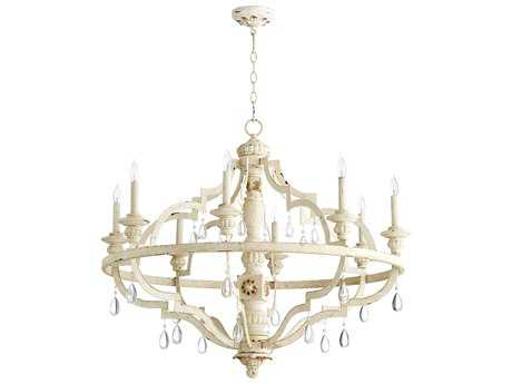 Quorum International Venice Persian White Eight-Light 37'' Wide Chandelier QM645870