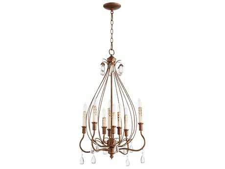 Quorum International Venice Vintage Copper Eight-Light 20'' Wide Chandelier QM6544839