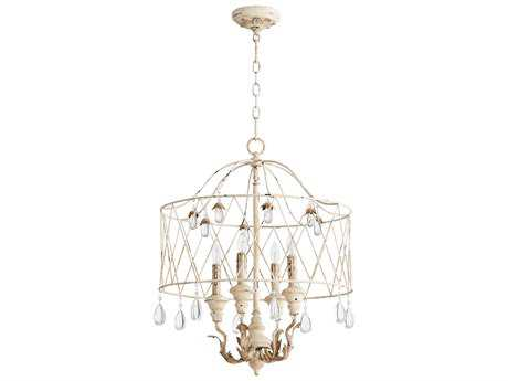Quorum International Venice Persian White Four-Light 20'' Wide Mini Chandelier QM6744470