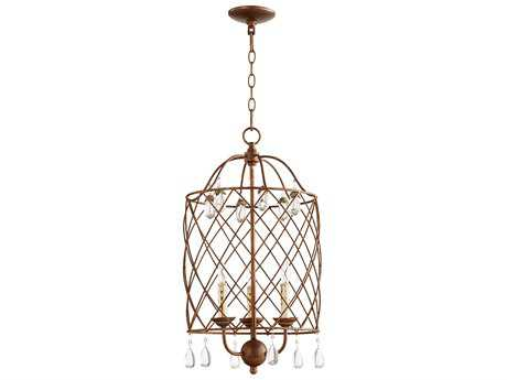 Quorum International Venice Vintage Copper Three-Light 13.5'' Wide Mini Chandelier QM6944339