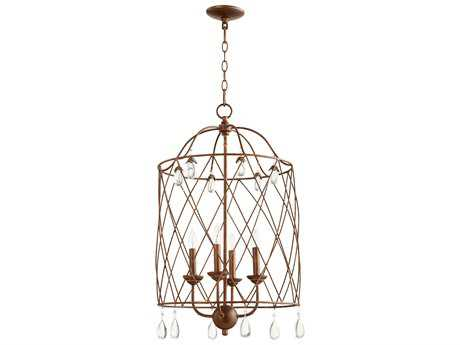 Quorum International Venice Vintage Copper Four-Light 17'' Wide Mini Chandelier QM6944439