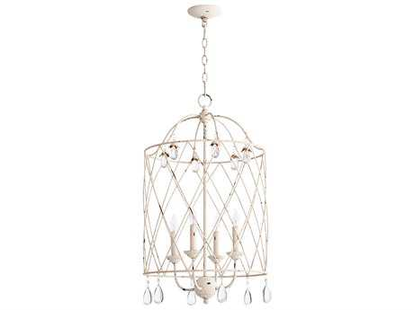Quorum International Venice Persian White Four-Light 17'' Wide Mini Chandelier QM6944470