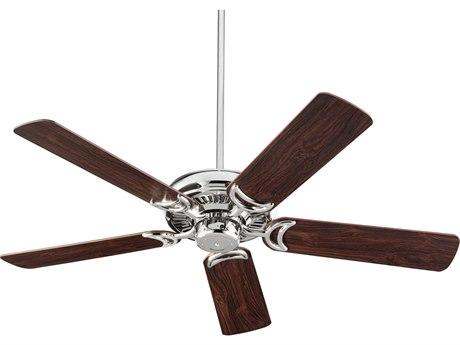 Quorum International Venture Polished Nickel 52'' Wide Indoor Ceiling Fan with Dark Teak Blades QM7952562
