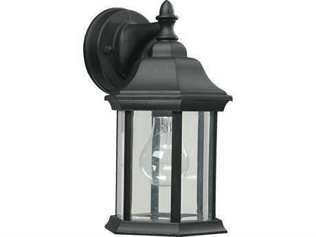 Quorum International Black Outdoor Wall Lantern QM78715
