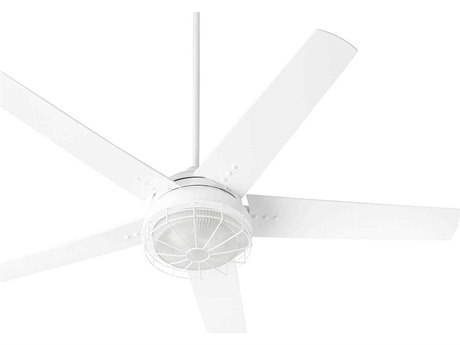 Quorum International Westland Studio White Two-Light 60'' Wide LED Outdoor Ceiling Fan with Studio White Blades QM166058