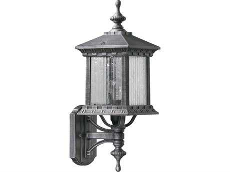 Quorum International Huxley Rustic Silver Outdoor Wall Lantern QM746072