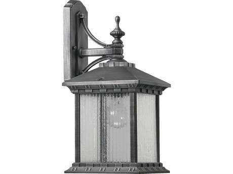 Quorum International Huxley Rustic Silver Outdoor Wall Lantern QM756172