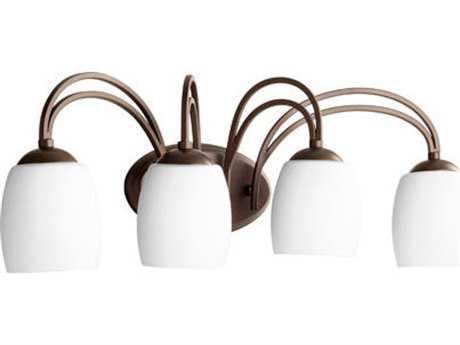 Quorum International Willingham Oiled Bronze Four-Light Vanity Light QM50124186