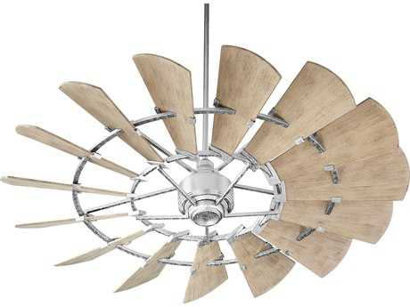 Quorum International Windmill Galvanized 60'' Wide Indoor Ceiling Fan