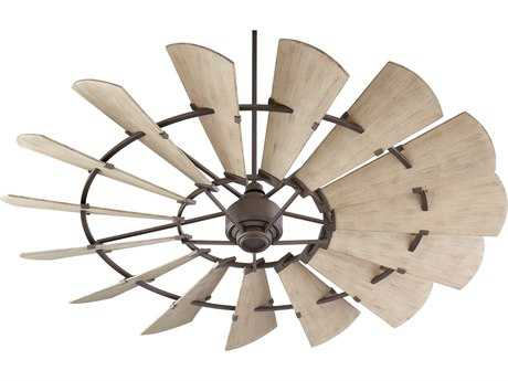 Quorum International Windmill Oiled Bronze 72'' Wide Indoor Ceiling Fan