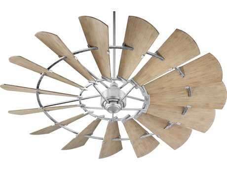 Quorum International Windmill Galvanized 72'' Wide Indoor Ceiling Fan