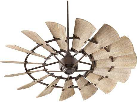 Quorum International Windmill Oiled Bronze 60'' Wide Indoor Ceiling Fan