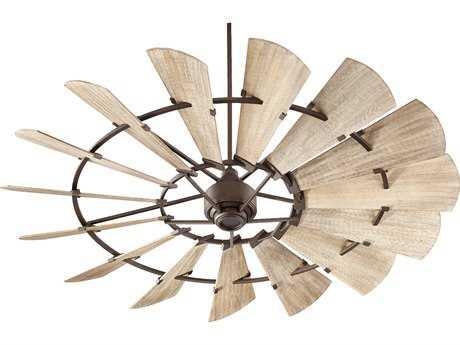 Quorum International Windmill Oiled Bronze 72'' Wide Indoor Ceiling Fan