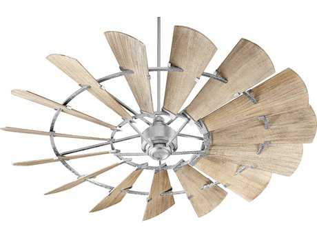 Quorum International Windmill Galvanized 72'' Wide Indoor Ceiling Fan QM972159