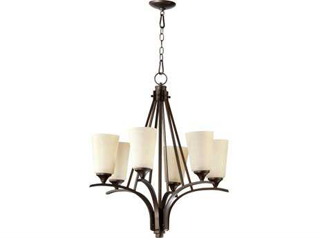 Quorum International Winslet II Oiled Bronze Six-Light 25'' Wide Chandelier QM61296186