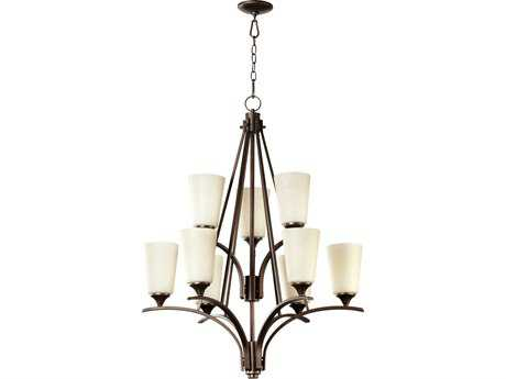 Quorum International Winslet II Oiled Bronze Nine-Light 30'' Wide Chandelier QM61299186