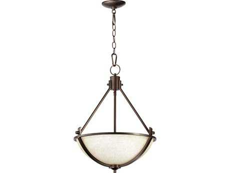 Quorum International Winslet II Oiled Bronze Three-Lights Pendant Light QM81293186