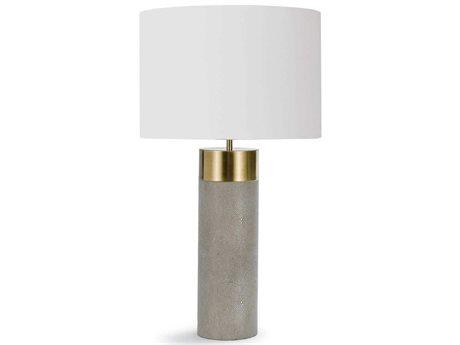 Regina Andrew Harlow Ivory Grey Shagreen Cylinder Buffet Lamp REG131178