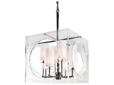 Regina Andrew Acrylic Cube Polished Nickel Eight-Lights 22'' Wide Chandelier REG161019