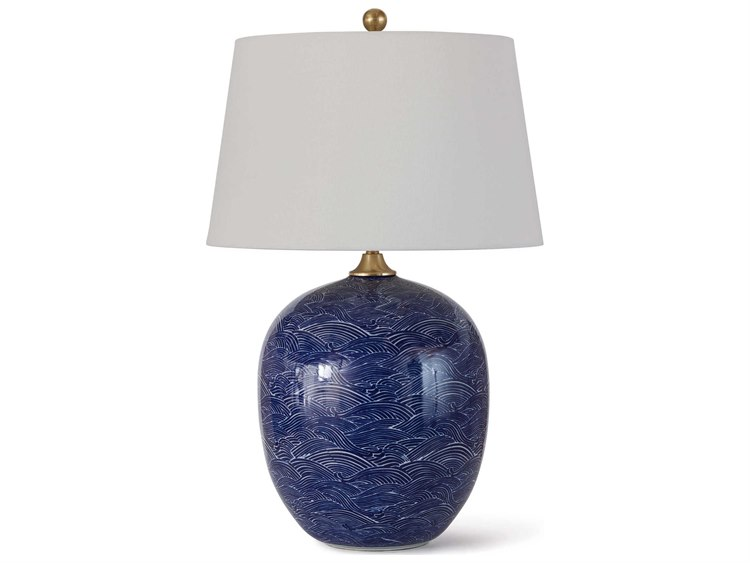 Regina Andrew Ceramic Blue Table Lamp Reg131289blu