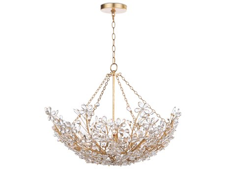 Regina Andrew Cheshire Gold Leaf 27'' Wide Crystal Pendant