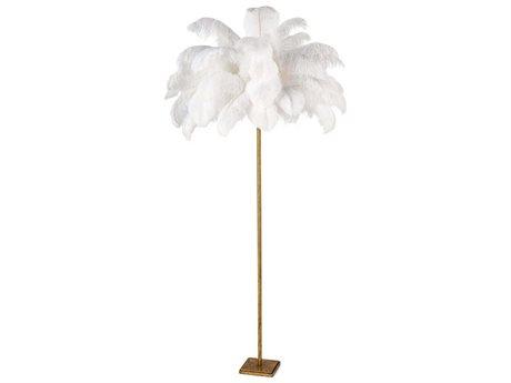Regina Andrew Gold Leaf 1-light Floor Lamp