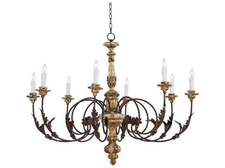 Regina Andrew Florence Blackened Iron Eight-Lights 46'' Wide Grand Chandelier